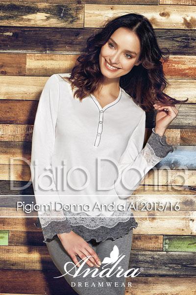 Pigiami Donna con Andra Dreamwear Ai 2016  bdd3b04e22d0