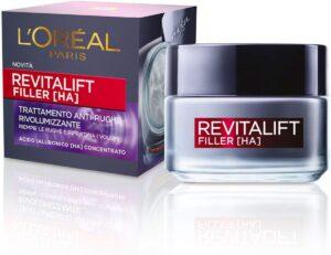 L'Oréal Paris Crema Viso Revitalift Filler Antirughe 50 anni